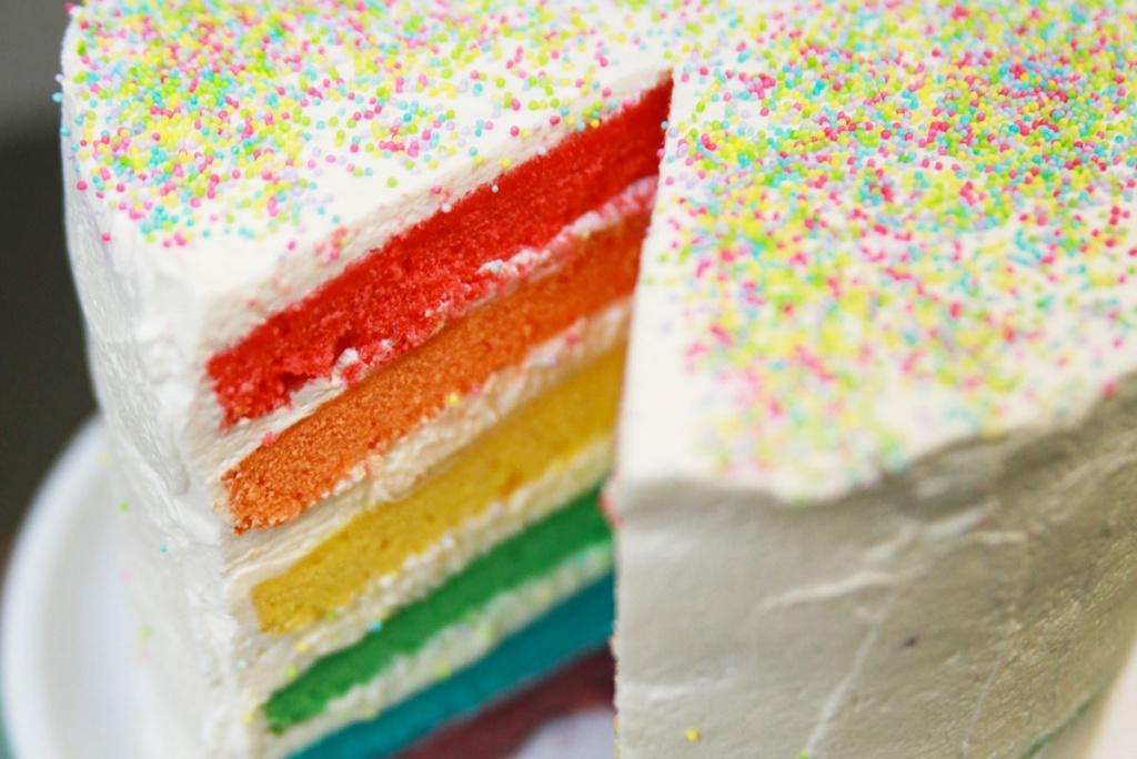 recette rainbow cake ou gateau arc en ciel
