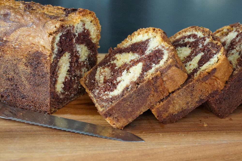 Recette du marbr facile et moelleux par herv cuisine - Herve cuisine buche de noel ...