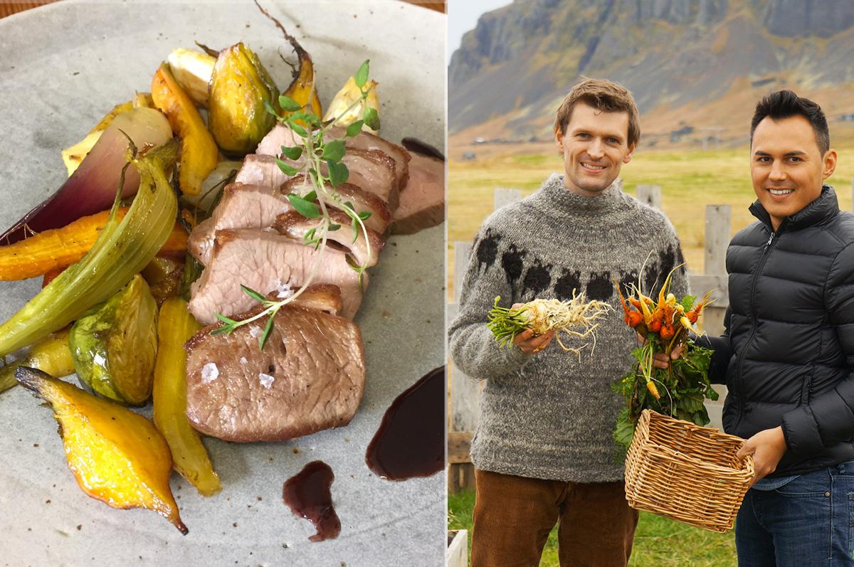 Herv cuisine en islande recette d 39 agneau r ti - Herve cuisine buche de noel ...