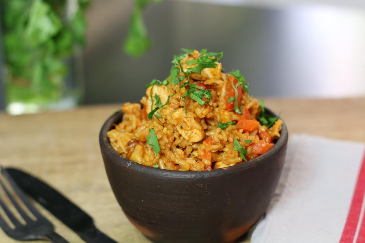 Riz au poulet ou one pot chicken rice for Recette poulet