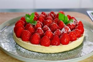 Tarte aux fraises facile en 3 étapes