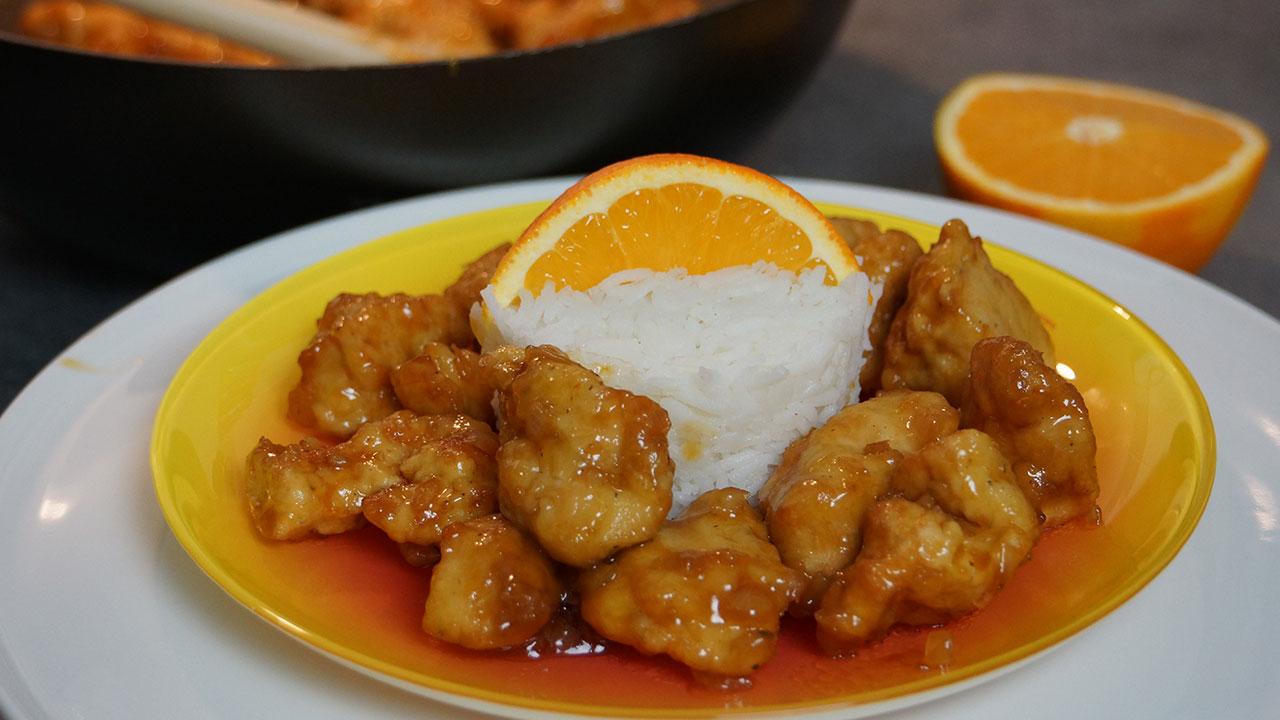 recette du poulet orange croustillant la chinoise. Black Bedroom Furniture Sets. Home Design Ideas